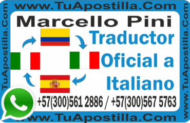 Traductor Oficial Italiano Marcello Pini