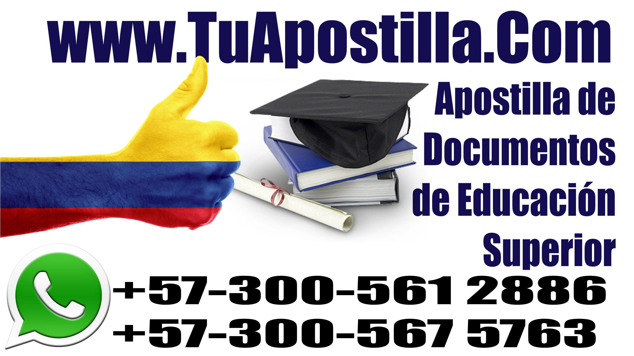 Apostilla de Documentos de Educación Superior